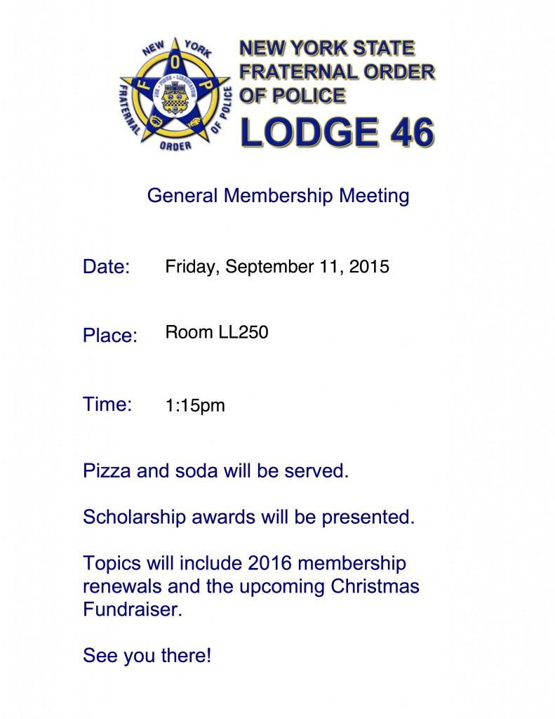 FOP General Membership Meeting-9-11