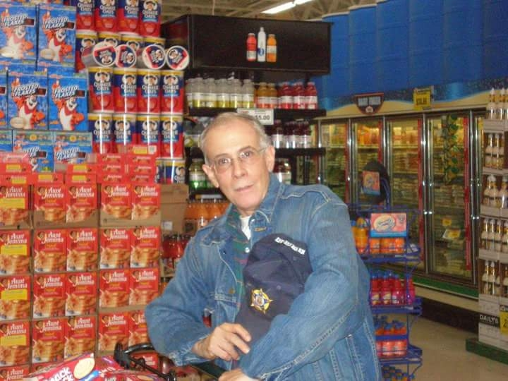 Danny,  shopping for the Food Drive