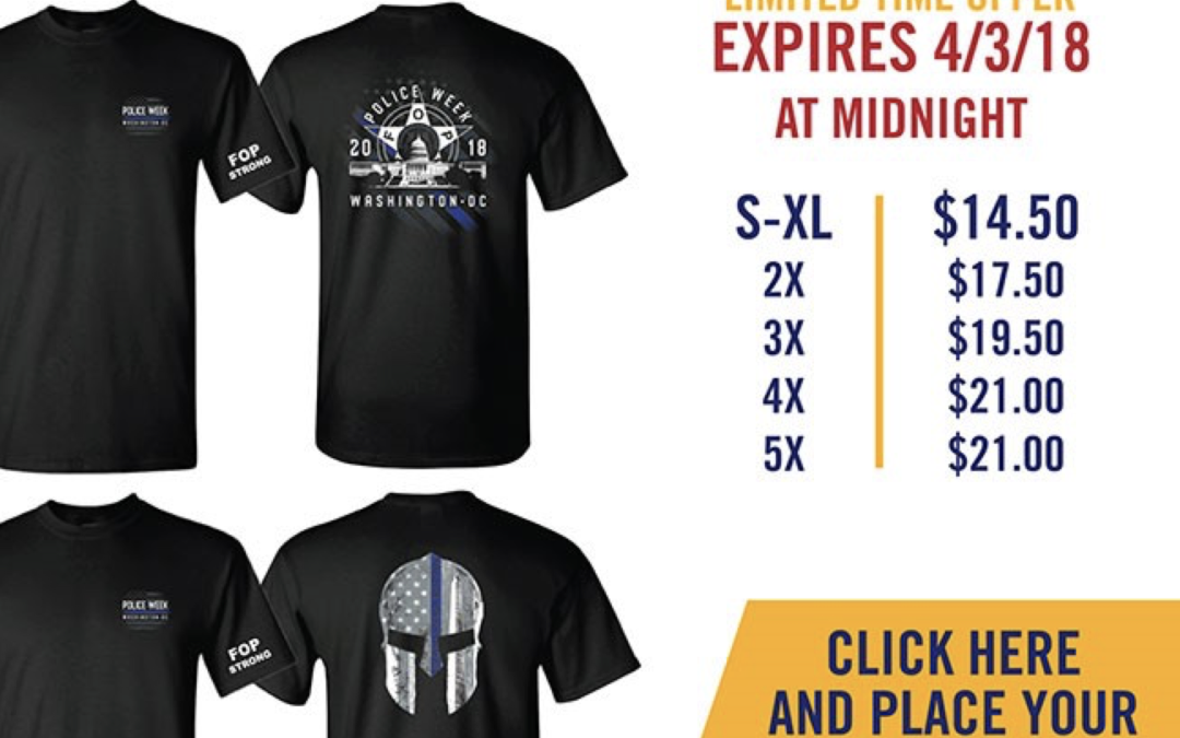Limited Edition 2018 Police Week Shirts