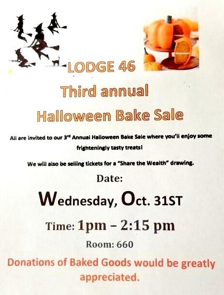 Third Annual Halloween Bake Sale