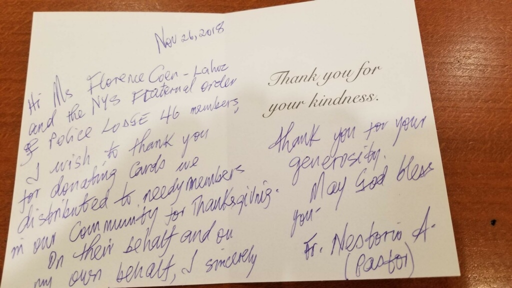 Thank you's from the Parish of St. Angela Merici