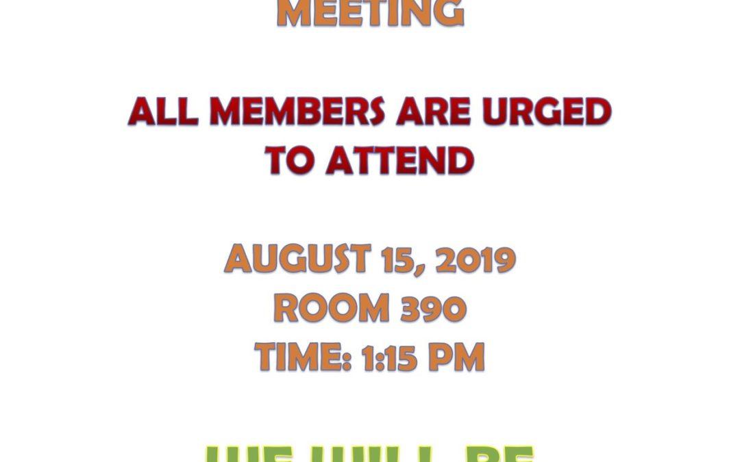 FOP MEETING AUGUST 15, 2019